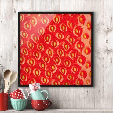 Poster con cornice - Strawberry Structure - Quadrato 1:1