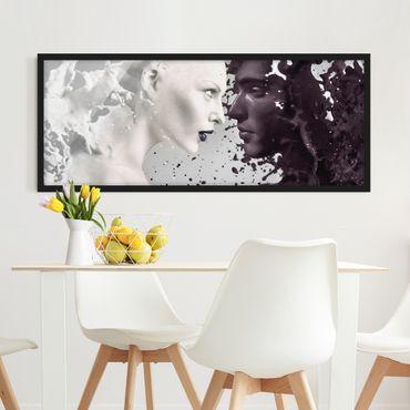 Poster con cornice - Milk & Coffee - Panorama formato orizzontale