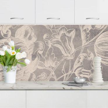 Rivestimento cucina - Ornamento floreale I