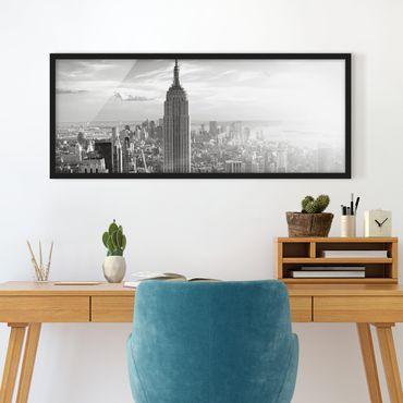 Poster con cornice - Skyline Di Manhattan - Panorama formato orizzontale