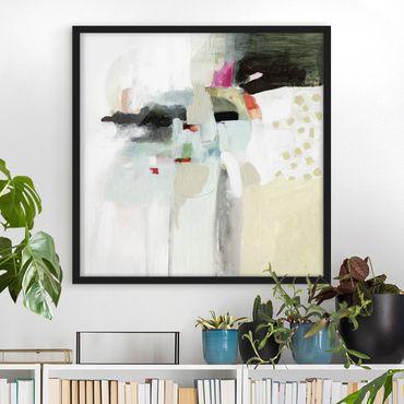 Poster con cornice - Colorful Waterfalls II - Quadrato 1:1