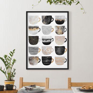 Poster con cornice - Coppa d'oro di bianco e nero - Verticale 4:3