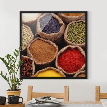 Poster con cornice - Colorful Spices - Quadrato 1:1
