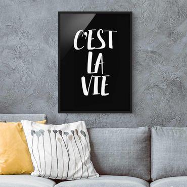 Poster con cornice - C'Est La Vie - Verticale 4:3