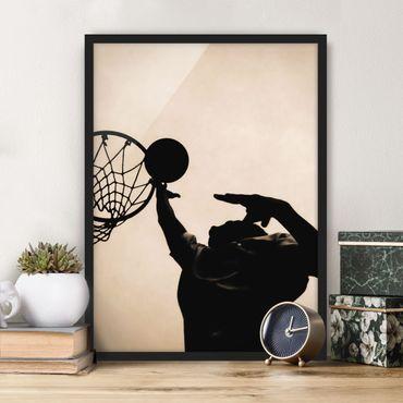 Poster con cornice - Basketball - Verticale 4:3