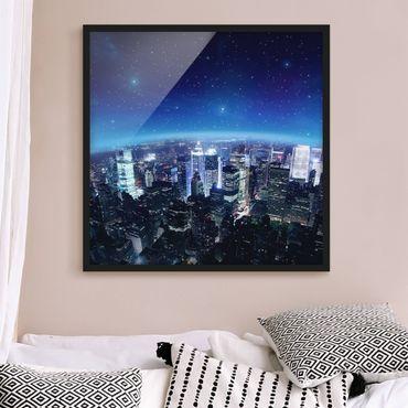 Poster con cornice - Illuminated New York - Quadrato 1:1