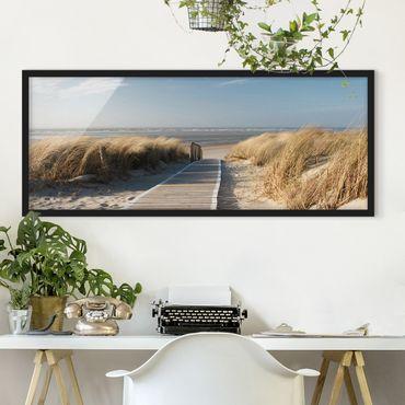 Poster con cornice - Spiaggia Del Mar Baltico - Panorama formato orizzontale