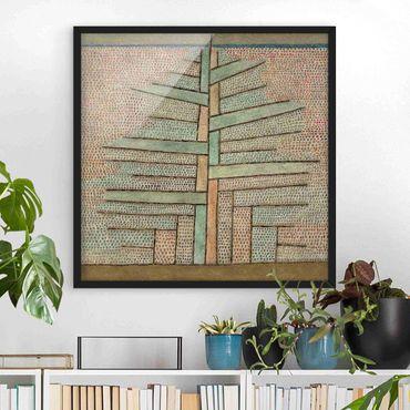 Poster con cornice - Paul Klee - Pine Tree - Quadrato 1:1