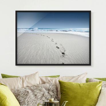 Poster con cornice - Traces In The Sand - Orizzontale 3:4