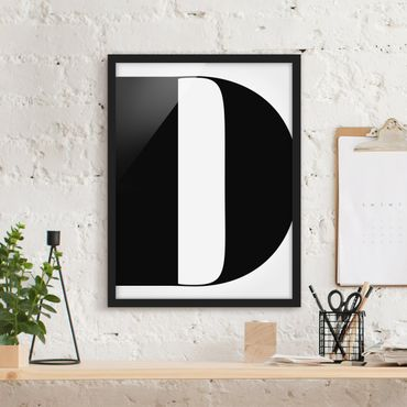 Poster con cornice - Antiqua Letter D - Verticale 4:3
