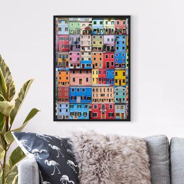 Poster con cornice - Venetian Homes - Verticale 4:3