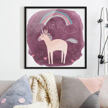 Poster con cornice - Unicorn Troop - Love - Quadrato 1:1