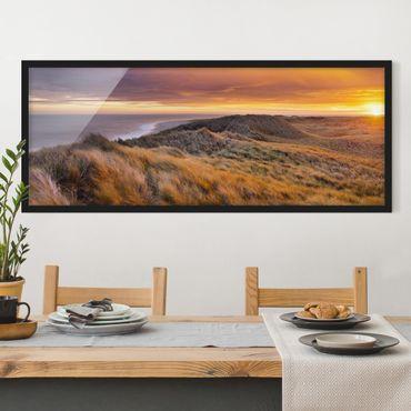 Poster con cornice - Alba Sulla Spiaggia Sull'Isola Di Sylt - Panorama formato orizzontale