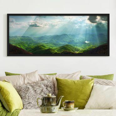 Poster con cornice - Celeste Terra - Panorama formato orizzontale