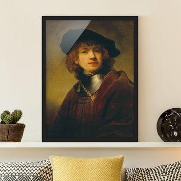 Poster con cornice - Rembrandt Van Rijn - Self-Portrait - Verticale 4:3