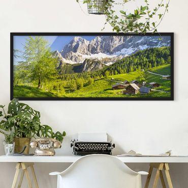 Poster con cornice - Prato Alpino Stiria - Panorama formato orizzontale