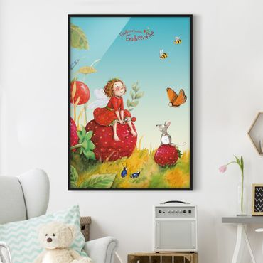 Poster con cornice - The Strawberry Fairy - Enchanting - Verticale 4:3