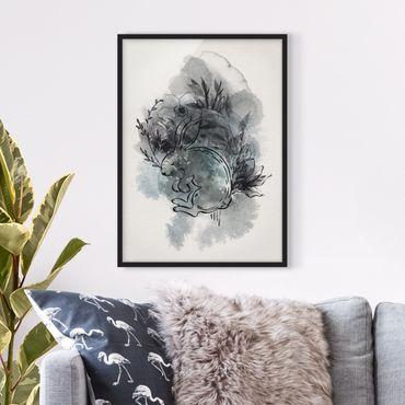 Poster con cornice - Full Moon Bunny - Verticale 4:3