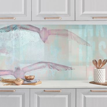 Rivestimento cucina - Shabby Chic Collage - Gabbiani