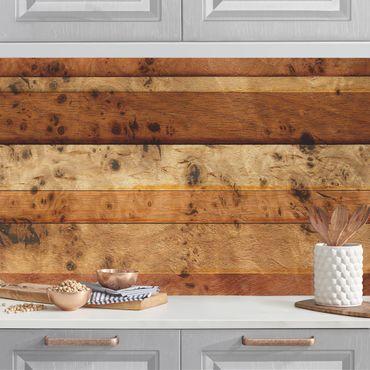 Rivestimento cucina - Effetto legno Birdseye