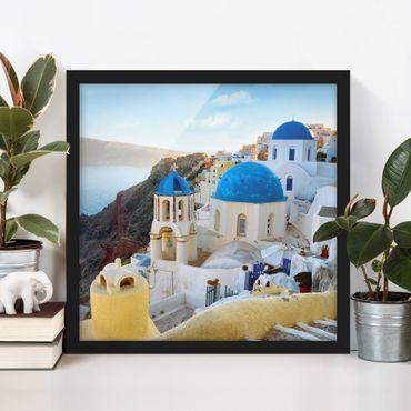 Poster con cornice - Santorini - Quadrato 1:1