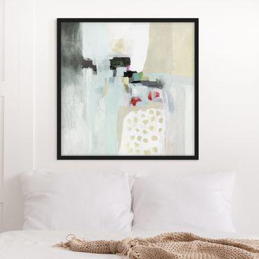 Poster con cornice - Colorful Waterfalls I - Quadrato 1:1