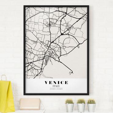Poster con cornice - Venice City Map - Classic - Verticale 4:3