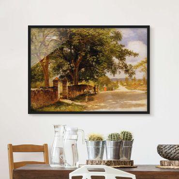 Poster con cornice - Albert Bierstadt - Street View In Nassau - Orizzontale 3:4