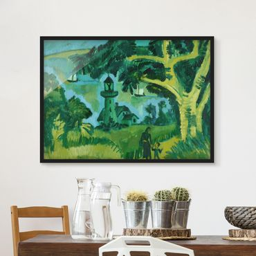 Poster con cornice - Ernst Ludwig Kirchner - Lighthouse On Fehmarn - Orizzontale 3:4
