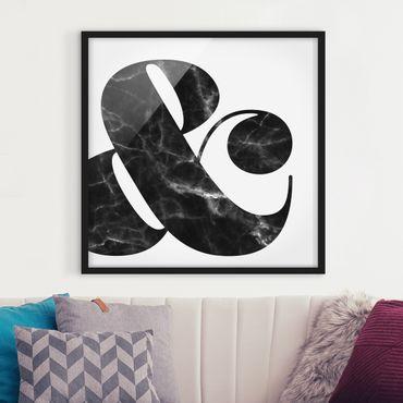 Poster con cornice - Ampersand Marble - Quadrato 1:1