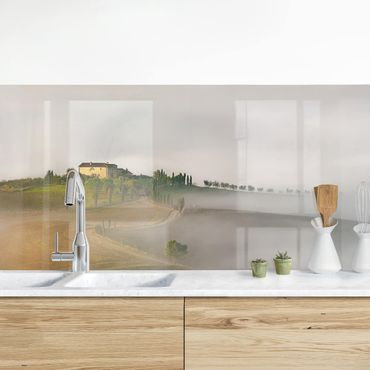 Rivestimento cucina - Nebbia Mattutina In Toscana