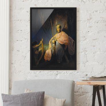 Poster con cornice - Rembrandt Van Rijn - David Playing The Harp To Saul - Verticale 4:3