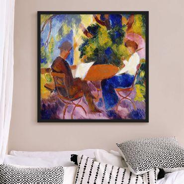 Poster con cornice - August Macke - Couple At The Garden Table - Quadrato 1:1