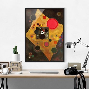 Poster con cornice - Wassily Kandinsky - Accent In Pink - Verticale 4:3