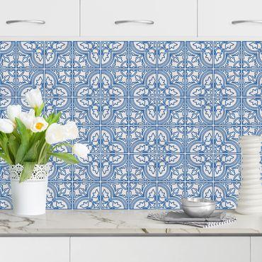 Rivestimento cucina - Motivo piastrelle Faro blu