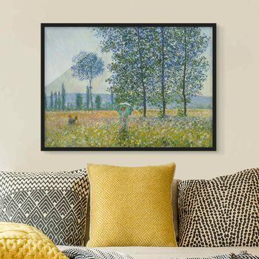 Poster con cornice - Claude Monet - campo in primavera - Orizzontale 3:4