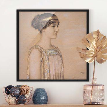 Poster con cornice - Franz Von Stuck - Portrait Of Mary - Quadrato 1:1