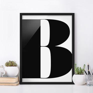 Poster con cornice - Antiqua Letter B - Verticale 4:3