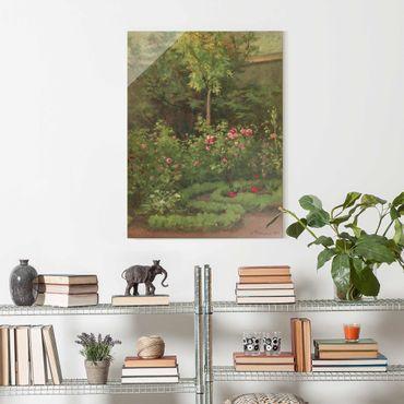Quadro in vetro - Camille Pissarro - A Rose Garden - Verticale 4:3