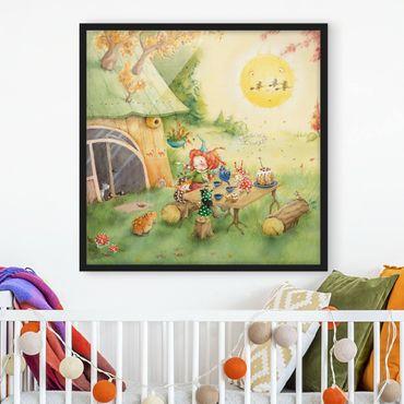 Poster con cornice - Frida Eating Breakfast - Quadrato 1:1