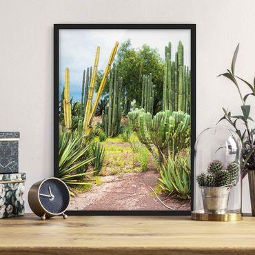 Poster con cornice - Cactus Landscape - Verticale 4:3