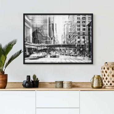 Poster con cornice - NYC Urban Black And White - Orizzontale 3:4
