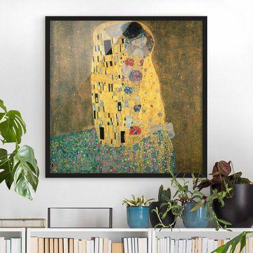 Poster con cornice - Gustav Klimt - The Kiss - Quadrato 1:1