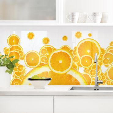 Rivestimento cucina - Modello Retrò Arancio II