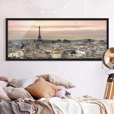Poster con cornice - Paris Vicino - Panorama formato orizzontale