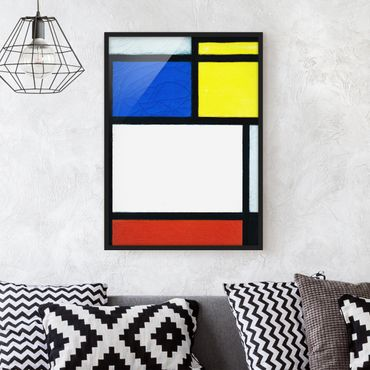 Poster con cornice - Piet Mondrian - Tableau No. 1 - Verticale 4:3