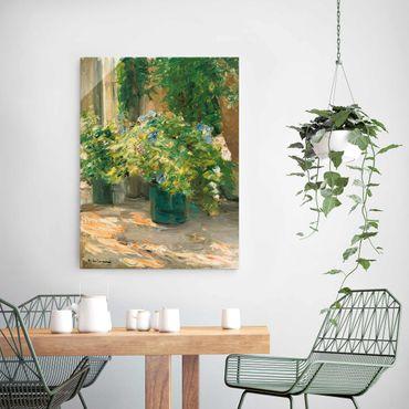Quadro in vetro - Max Liebermann - Vaso da fiori in davanti alla casa - Verticale 4:3