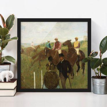 Poster con cornice - Edgar Degas - Jockeys On Race Track - Quadrato 1:1
