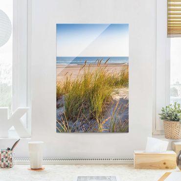 Quadro in vetro - Beach Dune Al Mare - Verticale 3:2