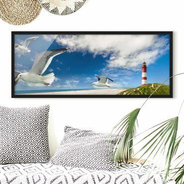 Poster con cornice - Dune Breeze - Panorama formato orizzontale